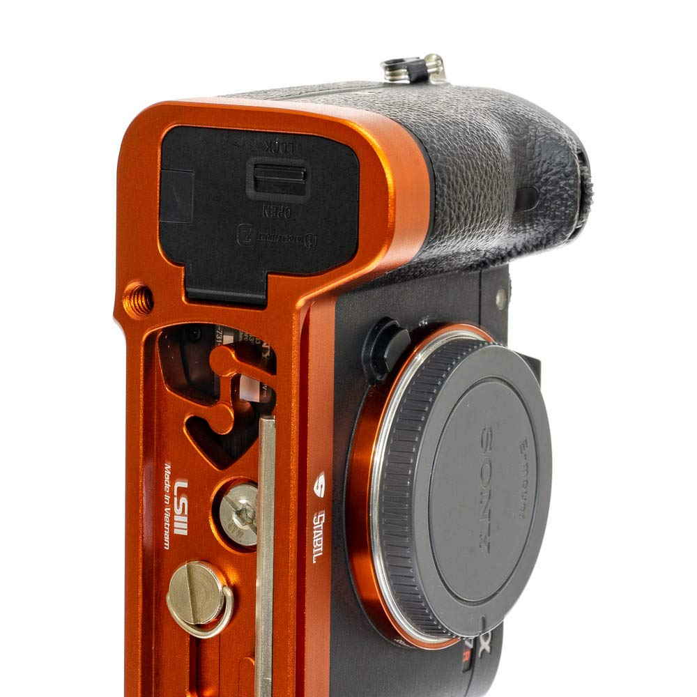 2019 Version Stabil LSIII - L Plate Quick Release Plate for Sony A7RIII; A7III & A9 : Orange Color by Stabil (Image #5)