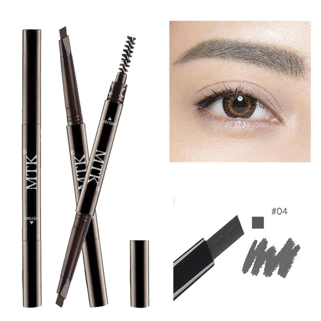 â¤JPJ(TM)❤️ Eyebrow Pen,Girls Sexy Charming Double-headed Automatic Waterproof Eyebrow Pen Pencil With Brush Beauty Cosmetic Best Tool for Your Eyebrow (D)