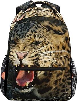 School Backpack Leopard Wildlife Animal Student Rucksack Boys Girls Daypack