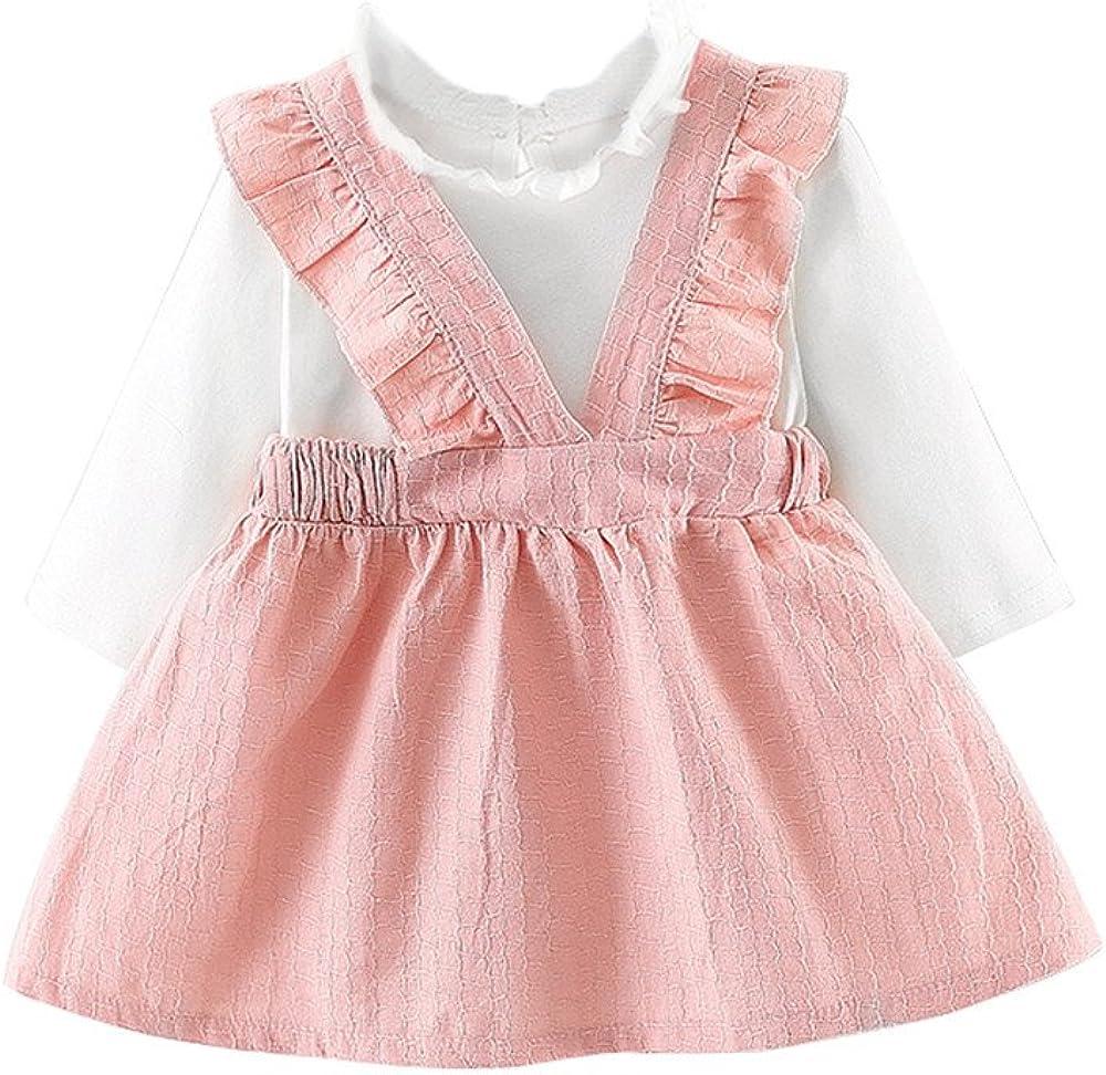 XUANOU Toddler Kids Baby Girl Santa Print Lace Princess Dress Christmas Outfits