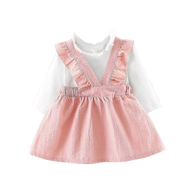 acff6892317d Bestow- Baby Girls Cute Dresses Newborn Infant Braces Clothes for 0 ...