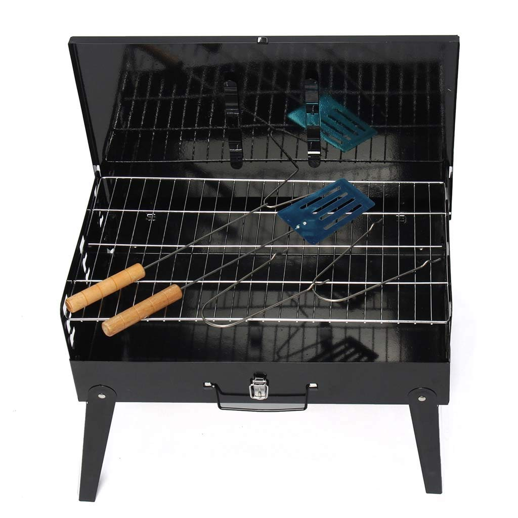 Makang Portable Grill Grill Burner Outdoor Garden Charcoal BBQ Terrace Party Cooking Folding Picnic 3-5 People