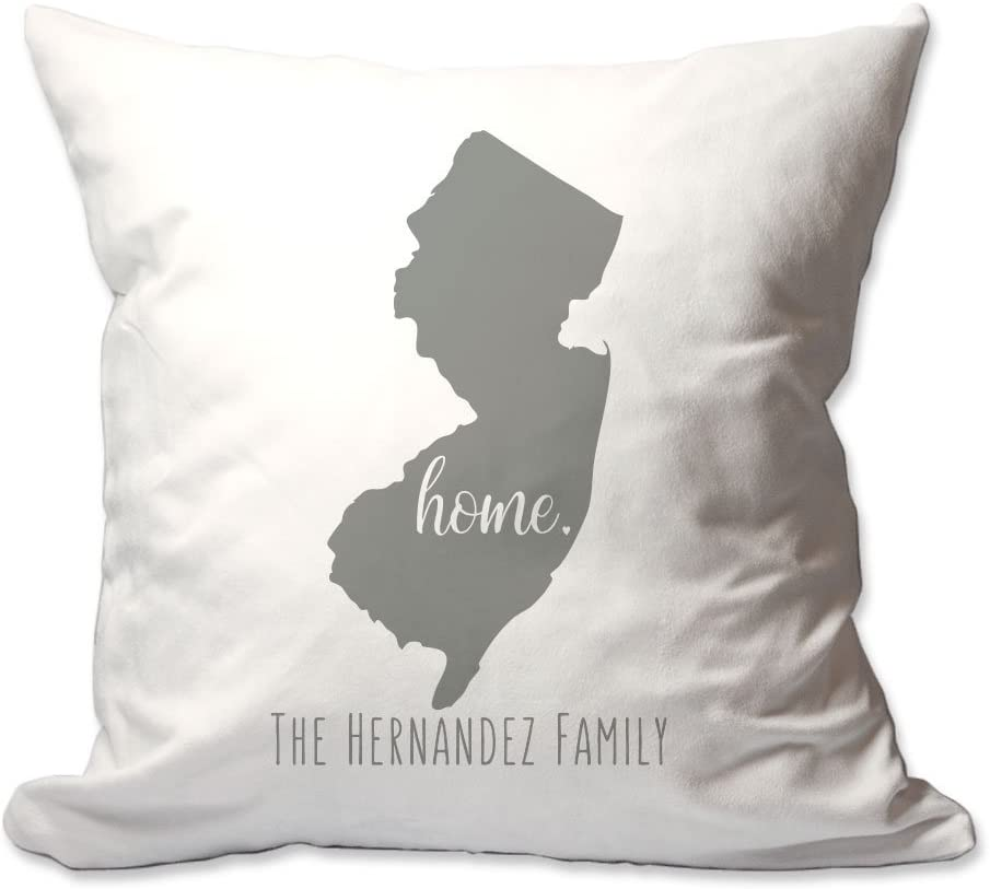 Pattern Pop Personalized State of New Jersey Home Throw Pillow