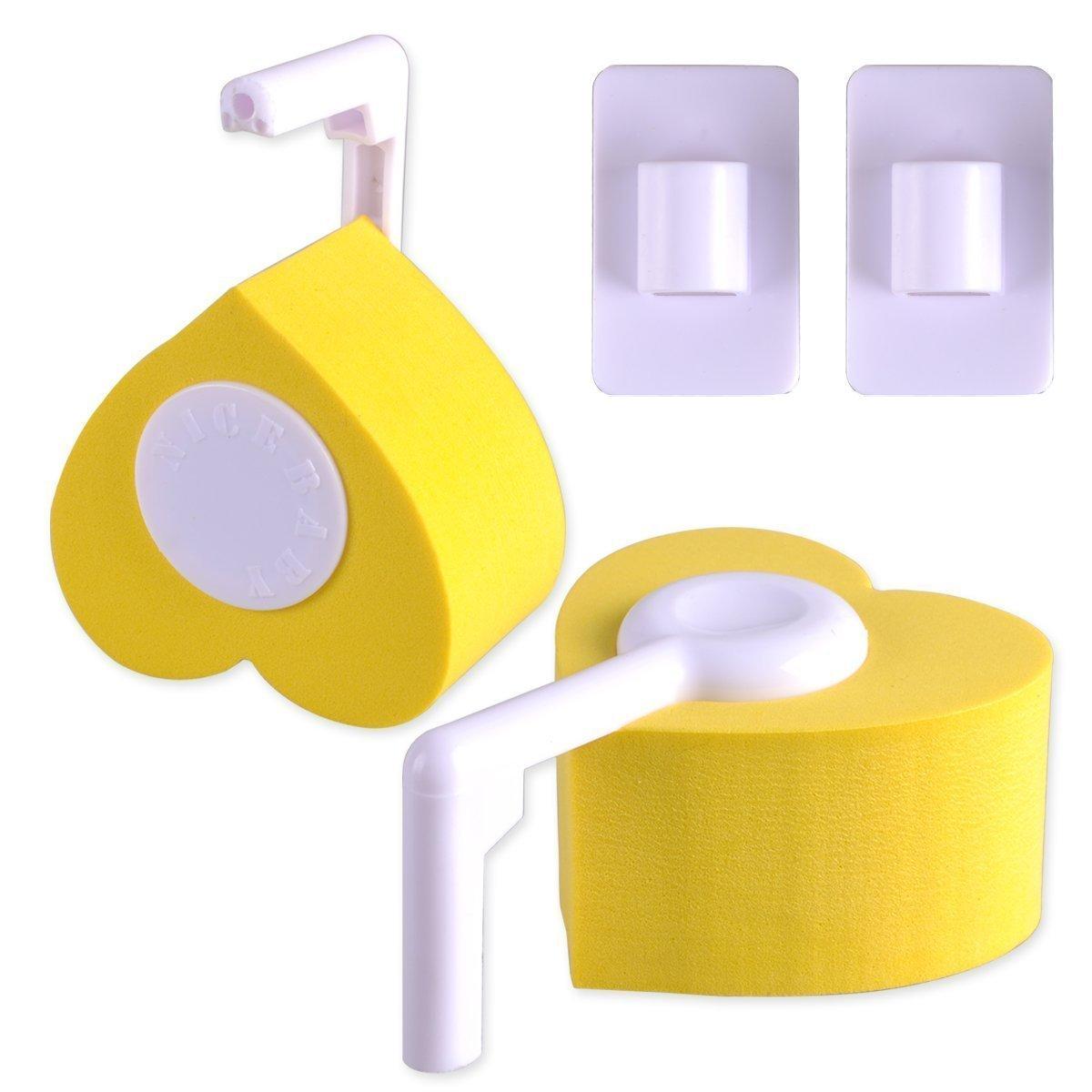 EXOH 2pcs protección bebé niños dedos seguridad Pinch Bisagra y protector de puerta (amarillo), plástico abs, Amarillo, 17x19x5cm