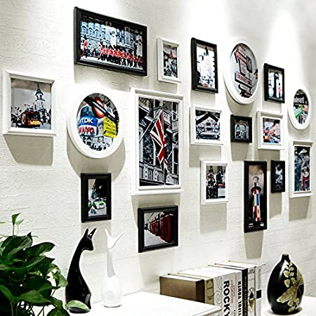 Korea wall sticker European black and white photo frame wall ...