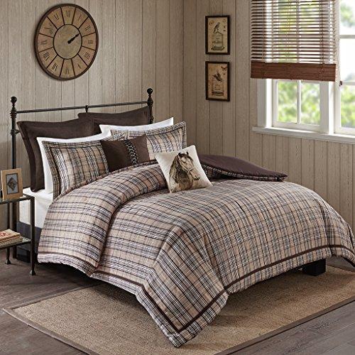 Euro Plaid Comforter (Williamsport Comforter Set Tan Queen)