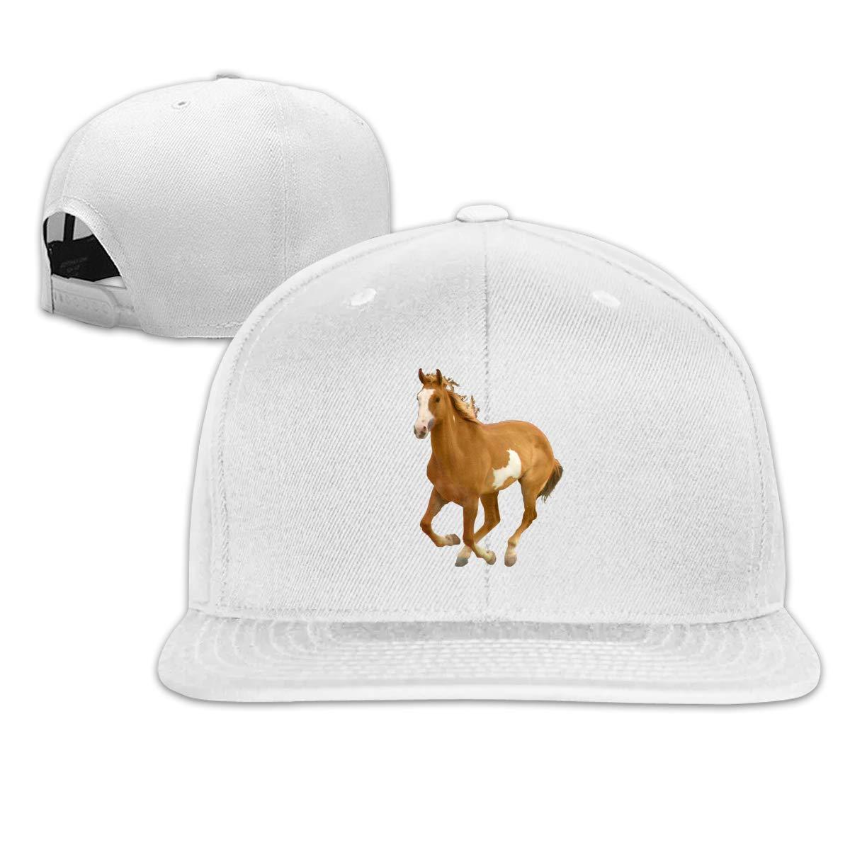 Xieadery Horse Running Flat Brim Baseball Cap Adjustable Snapback Trucker Hat Caps Hip Hop Hat
