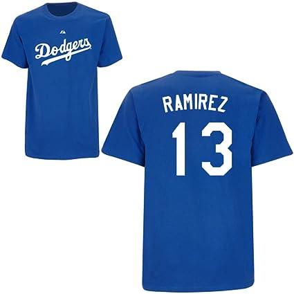 Amazon.com   Hanley Ramirez Los Angeles Dodgers Royal Player T-Shirt ... 7f343b74954