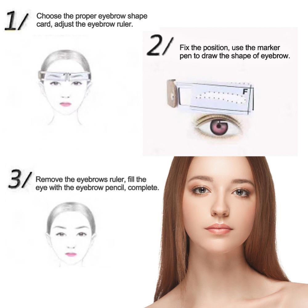 Amazon Disposable Eyebrow Ruler Tool Makeup Eyebrow Measure
