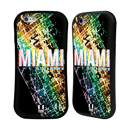 Head Case Designs Miami Lumières De La Ville Étui Coque Hybride pour Apple iPhone 6 / 6s