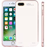 CXCase iPhone 7 Plus/ 6S Plus/ 6 Plus Battery Case, 5200mAh Ultra Slim Extended Battery Backup Charging Case Charger Pack Power Bank for iPhone 7+ Plus/ iPhone 6S Plus/6 Plus 5.5 inch - Rose Gold