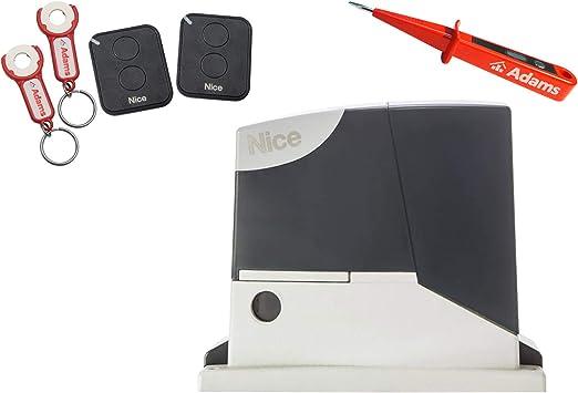 Nice Road 400 Kit de transmisión para puerta corredera, 400 kg + 2 transmisores manuales FLO2RE con ADAMS colgante Set 3 en 1 + comprobador de corriente ADAMS: Amazon.es: Bricolaje y herramientas