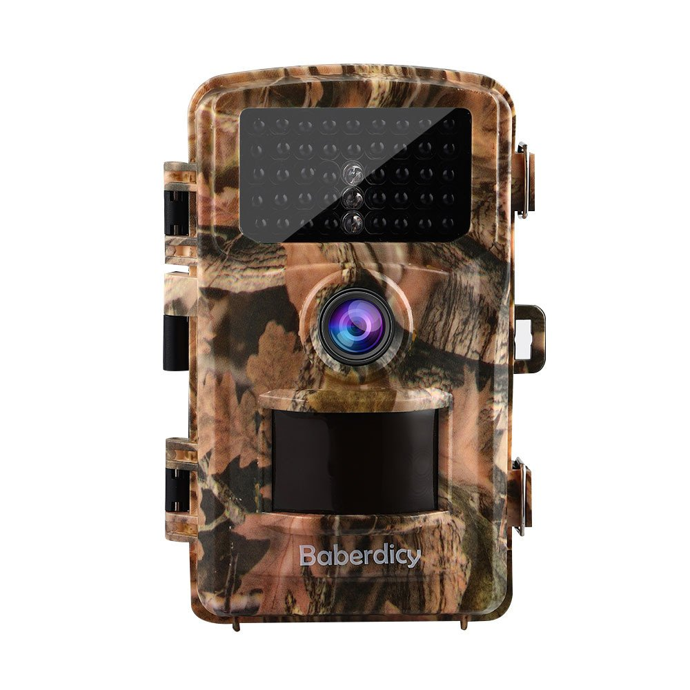 FTXJ Trail Camera with Infrared Night Vision 1080P HD 12MP Surveillance Cam Waterproo Design for Wildlife Hunting and Home Security (Yellow)