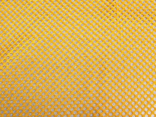 SyFabrics sports football jersey mesh fabric 58 inches wide Yellow Gold