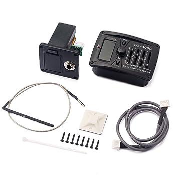 monkeyjack 4 bandas guitarra acústica preamplificador amplificador sintonizador lc-400g pastilla con caja para pilas: Amazon.es: Instrumentos musicales