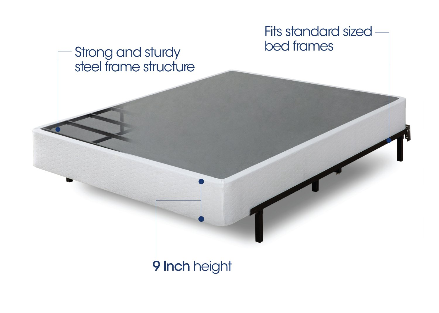 Zinus 9 Inch High Profile Smart Box Spring Mattress