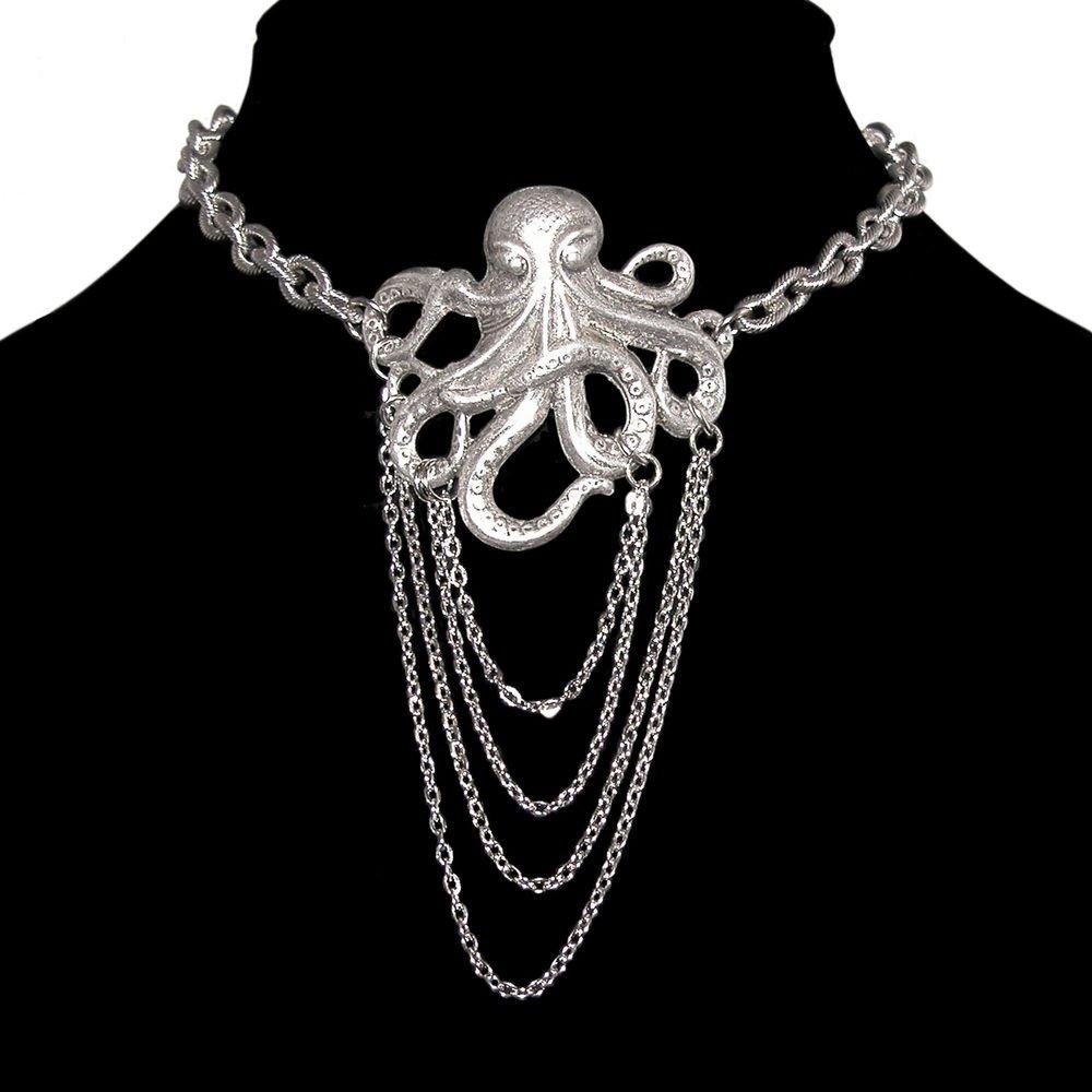 Amazon.com: Pulpo Sin Níquel Collar de gargantilla con ...