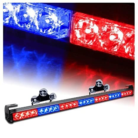 Luz LED de emergencia, estroboscópica, para rejilla, luz de advertencia para ambulancia/
