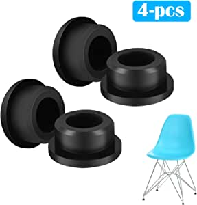 EEEKit Chair Foot Protector, 4-Pack Chair Glides Replacements for Eames Eiffel Style Chair Leg Cover Furniture Feet Black