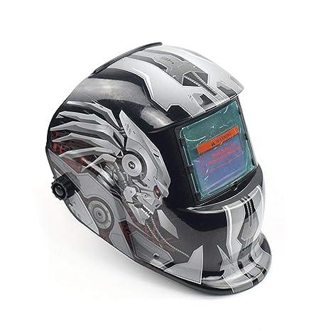 Cvthfyk Casco de máscara de Soldadura fotoeléctrica automática Solar Casco de Soldadura de Arco argón Casco