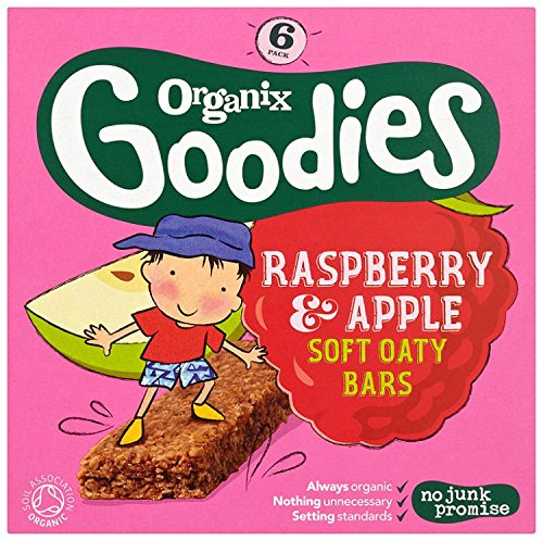 Organix Goodies 1 Year+Organic Raspberry and Apple Soft Oaty Bars 6 x 30 g (Pack of 6, Total 36 Bars) Organix Brands 410109
