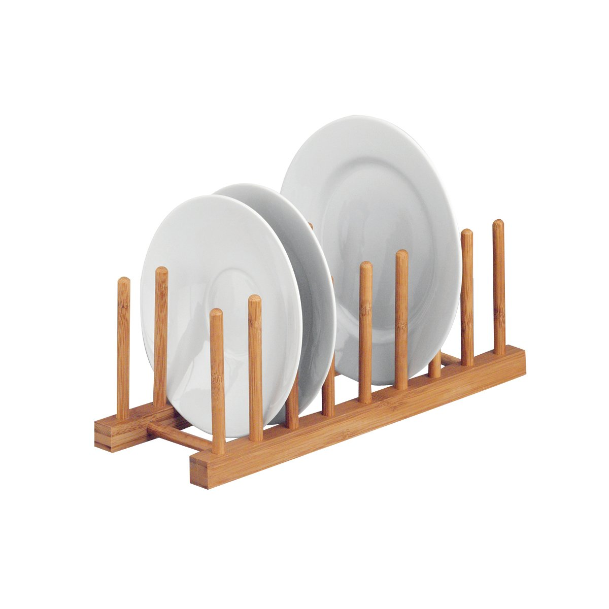 Zeller 25278 Supporto per Piatti, Bambú , Beige, 34x12.5x12 cm Bambú