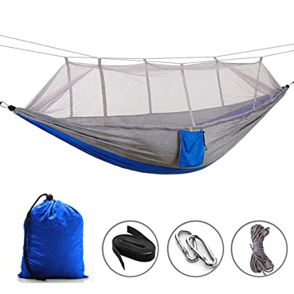 Amazon Com Elevens Outdoor Mosquito Net Hammock Portable Foldable