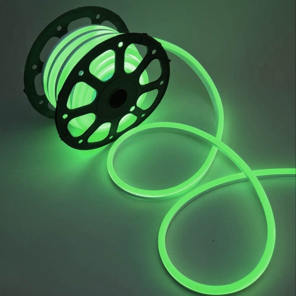 WYZworks Green Flexible Water Resistant Soft Single Side LED Neon Rope Light Strip Bar 150FT