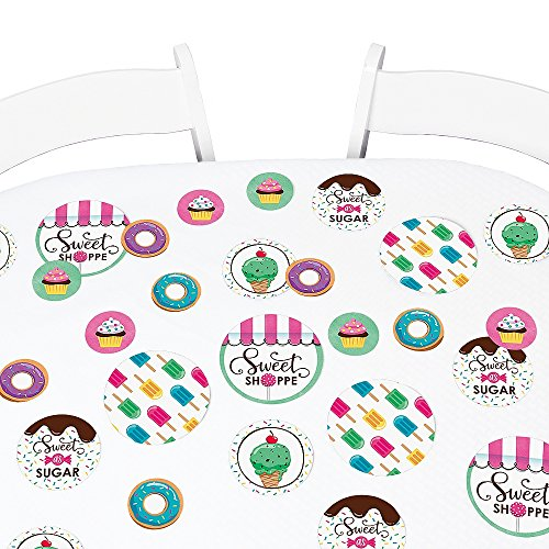 Big Dot of Happiness Sweet Shoppe - Candy and Bakery Birthday Party or Baby Shower Giant Circle Confetti - Party Decorations - Large Confetti 27 (Centerpiece Ideas For Birthday Tables)