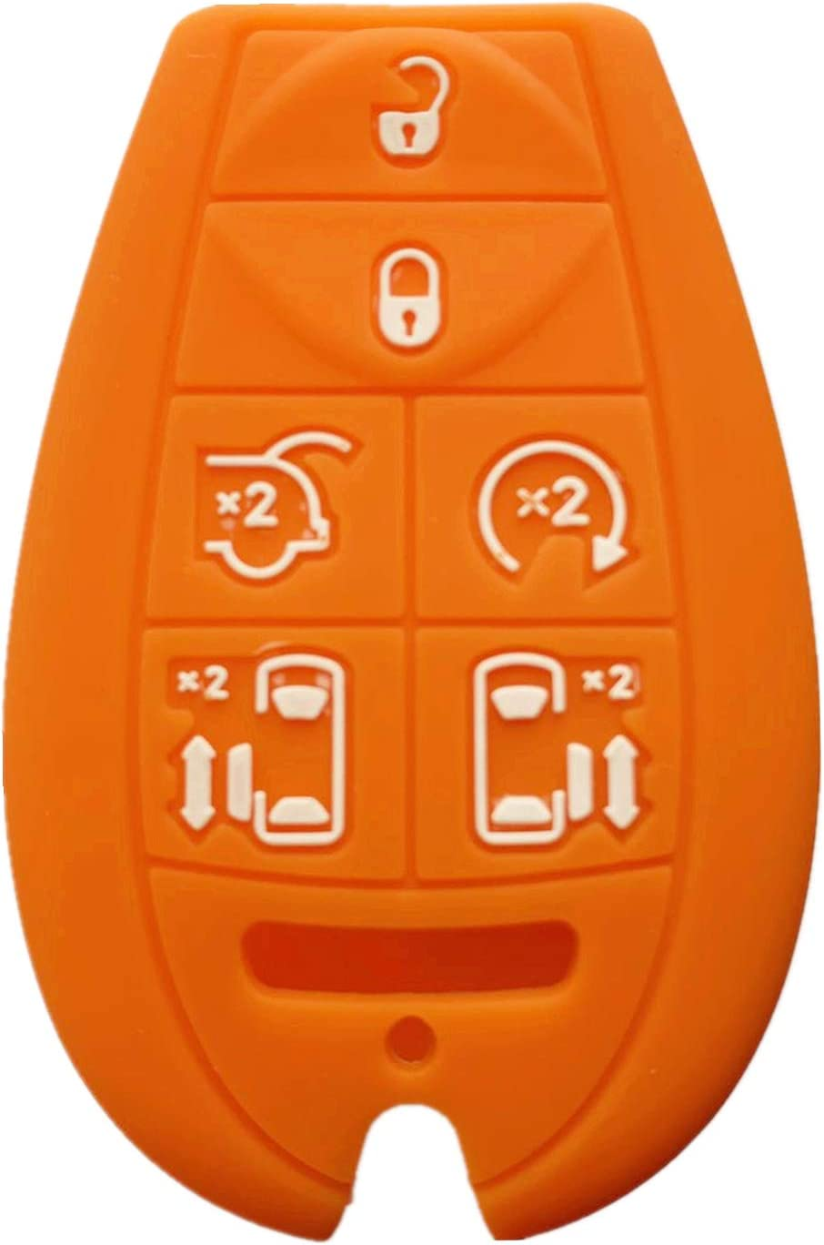 Rpkey Silicone Keyless Entry Remote Control Key Fob Cover Case protector For Chrysler Town /& Country Dodge Grand Caravan Volkswagen Routan M3N5WY783X 2701A-C01C 68043594AA 68043594 AA orange