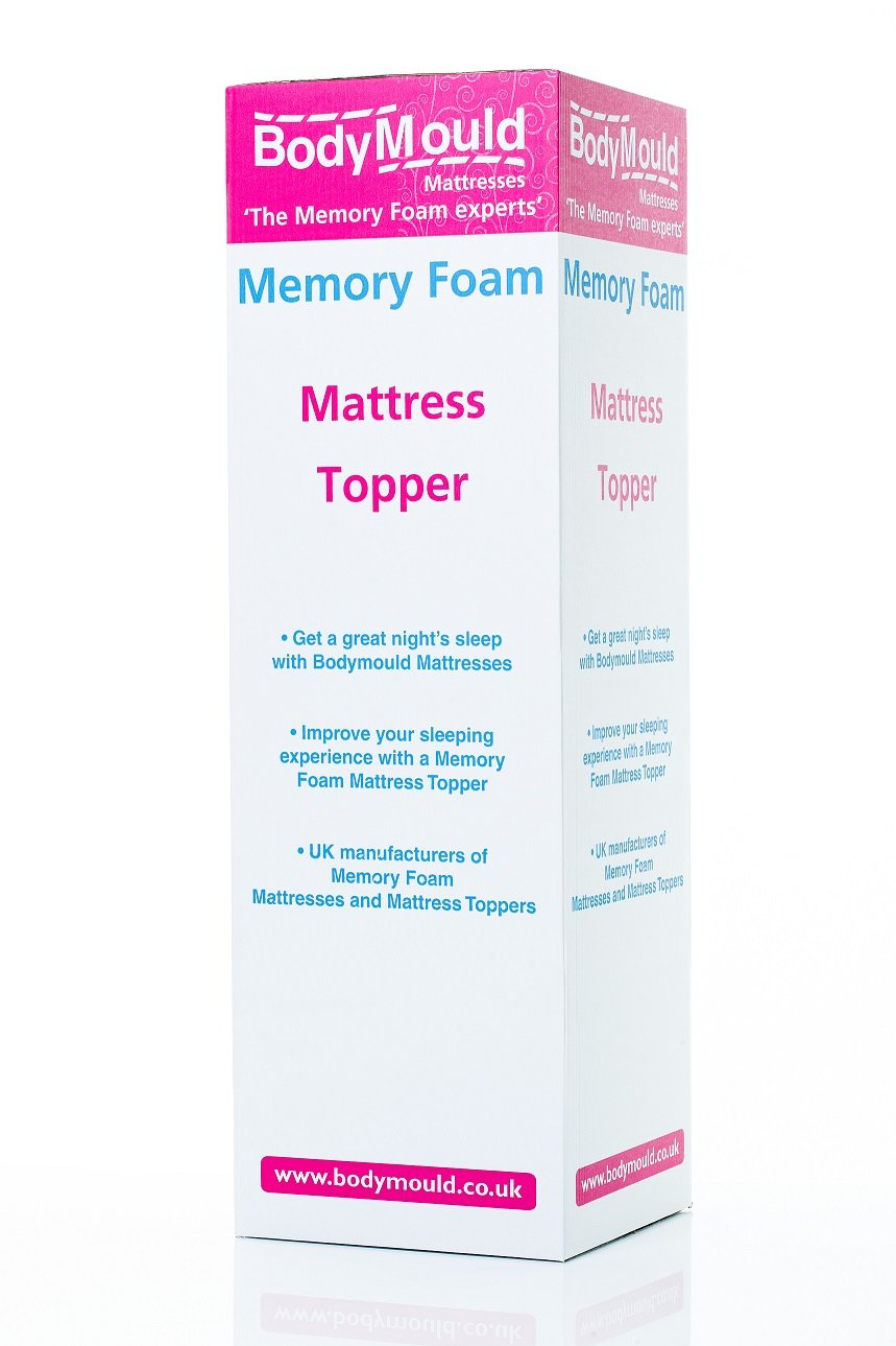 Bodymould Memory Foam Mattress Topper with Cover, 2 inch - UK Single Bodymould Mattresses