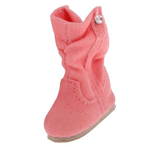 MagiDeal Paire 1/6 Bottes Hiver Chaussures de Poupée Bottines Pour 12 '' Blythe Dolls Accs - Rose