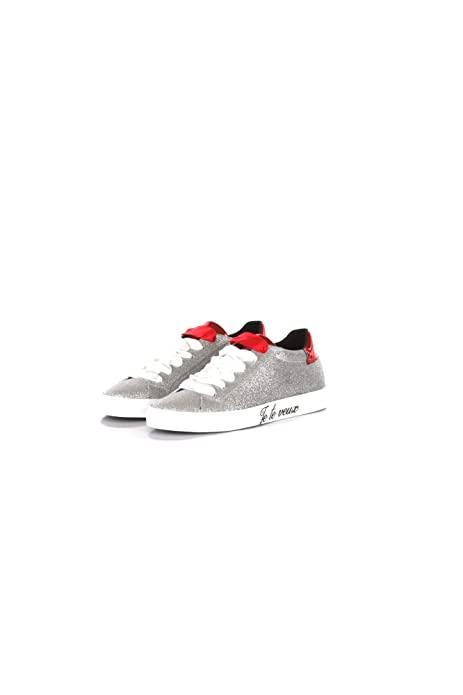 SHOP ART Sneakers Donna 36 ArgentoRosso #18672a Autunno