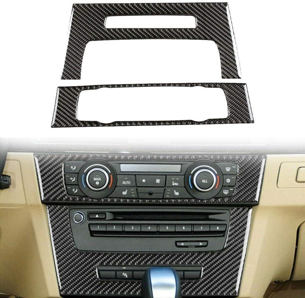 housesweet kohlefaser autopaneel Abdeckung verkleidung Konsole cd /& ac Panel Abdeckung f/ür BMW 3 Serie e90 e92 e93 2005-2012