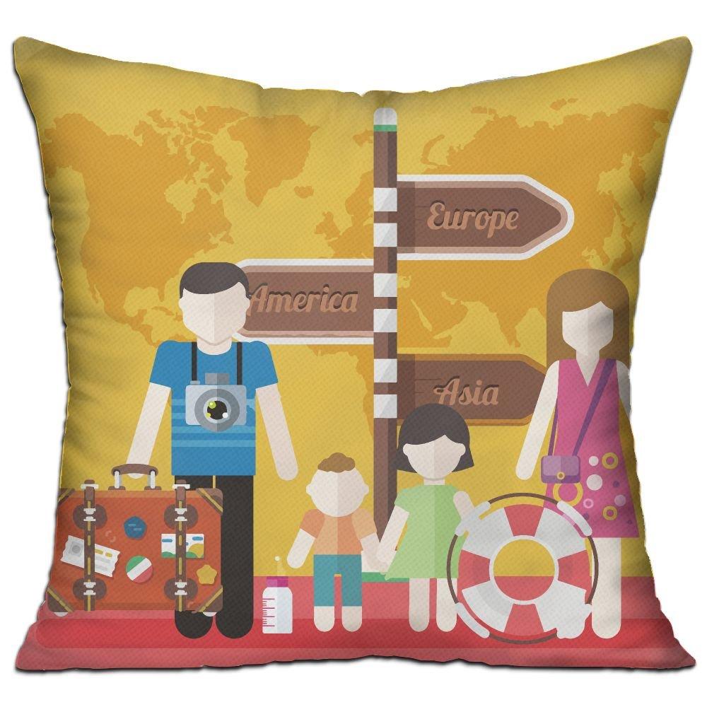 Amazon.com: WQBZL Families - Almohada decorativa para viaje ...