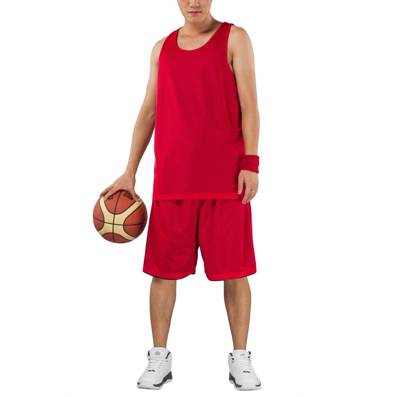 Hoerev Cortos de Baloncesto Deportes Reversible de los Hombres sin Bolsillos