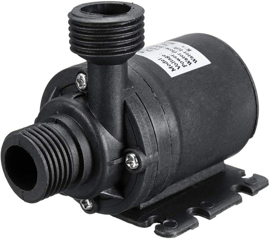L-Yune,bolt 1pc DC 12V 5 M 800L H Portable Mini Moteur brushless Ultra-Silencieux Pompe Submersible Eau for Le Refroidissement Syst/ème de Chauffage Fontaines