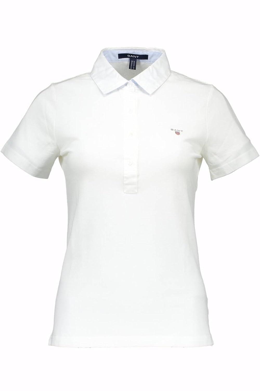 Gant 1501.409100 Polo con Las Mangas Cortas Mujer Blanco 110 XL ...