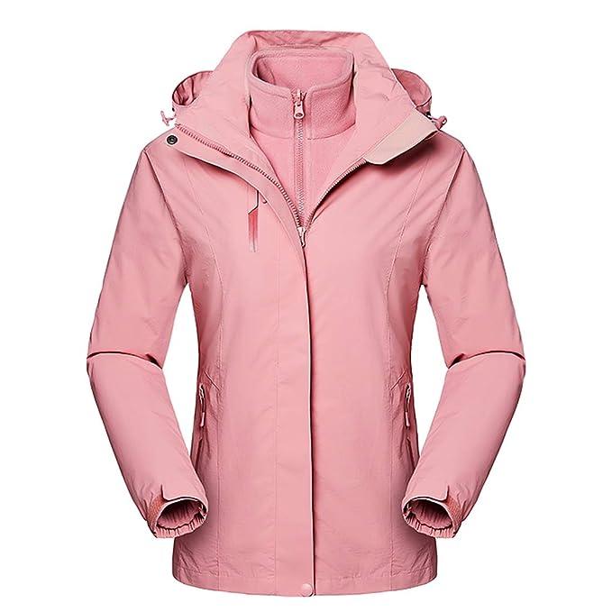 Amazon.com: Rdruko - Chaqueta de esquí para mujer, 3 en 1 ...