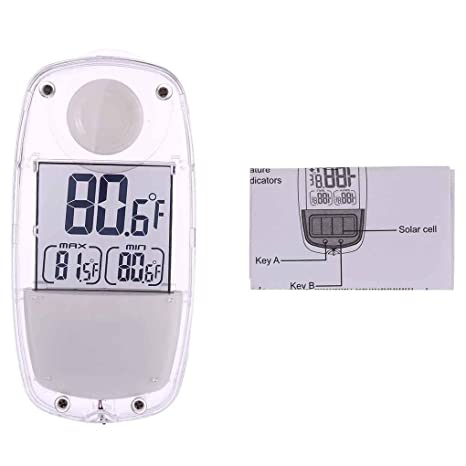 Lorsoul Multifunctionl LCD Display Mini Humidity Temperature Thermometer Meter Gauge for Indoor Outdoor