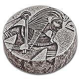 2016 Republic of Chad 5 oz Silver King Tut Silver Brilliant Uncirculated