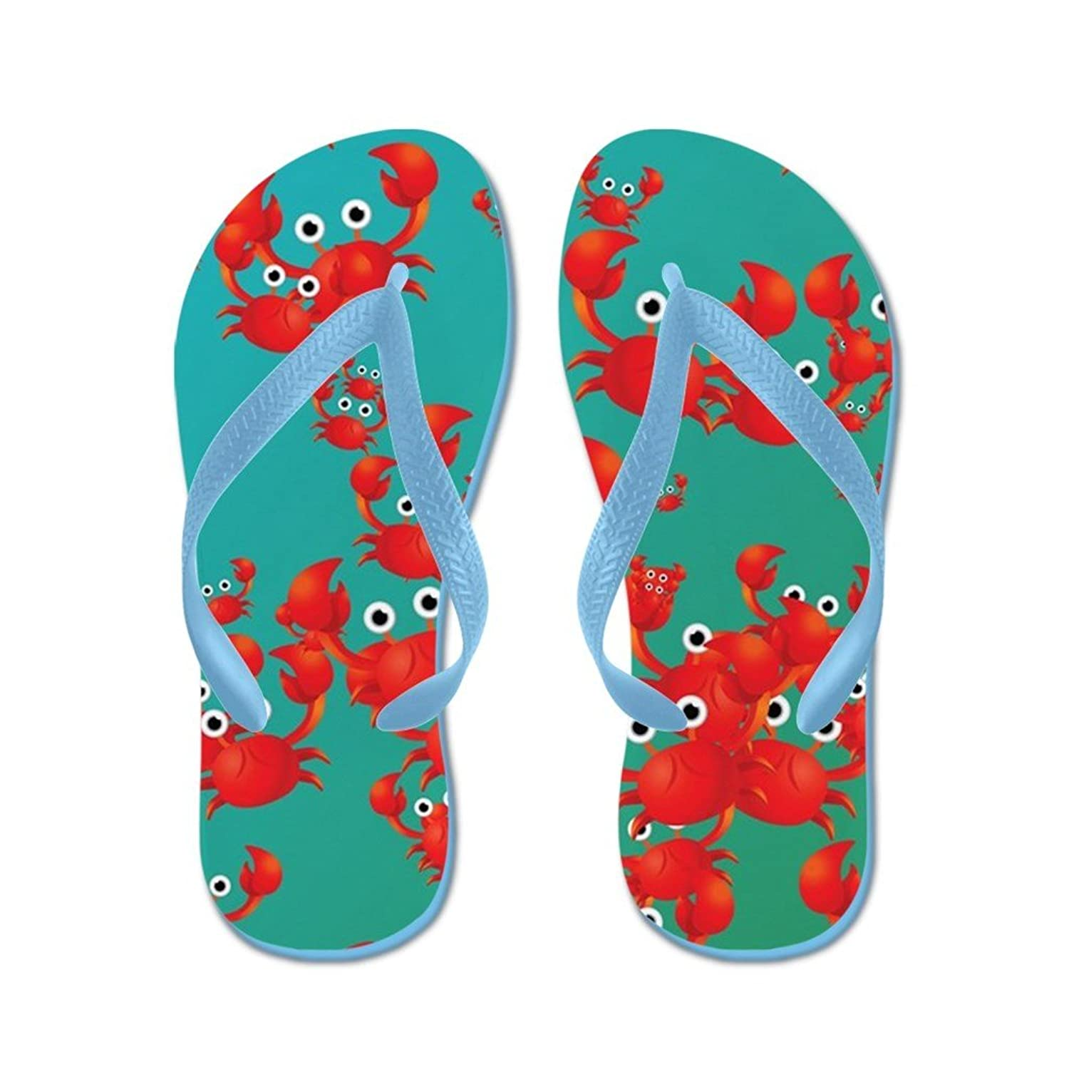 Lplpol Crab World Flip Flops Flip Flops for Kids and Adult Unisex Beach Sandals Pool Shoes Party Slippers