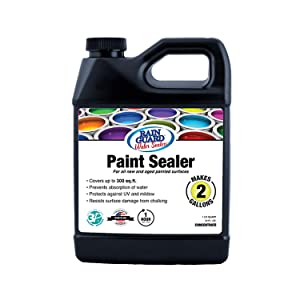 Rain Guard Water Sealers SP-9002 Paint Sealer Concentrate - Water Repellent for Painted Wood, Brick, Concrete, Stucco, and Masonry - Covers up to 300 Sq. Ft, 32 oz Makes 2 gallons, Clear