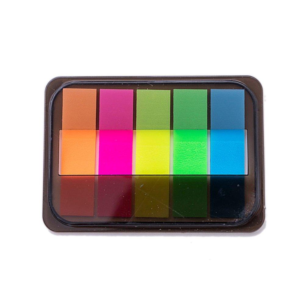 1PC Pegatinas fluorescentes en caja extraíble Memo Papelería ...