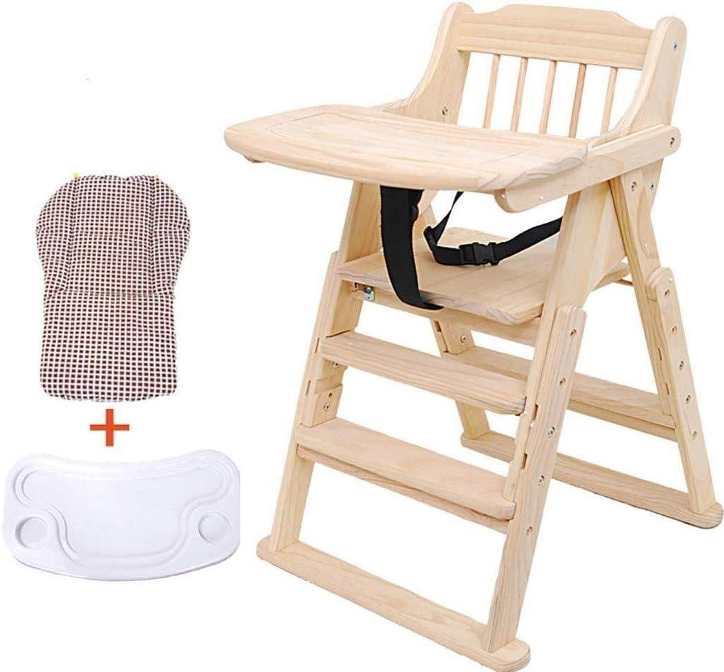 LAZ 木製ハイチェアの幼児の摂食ダイニング座席木製ベビーハイチェアは、5歳の赤ちゃん6ヶ月間に適した大セキュア