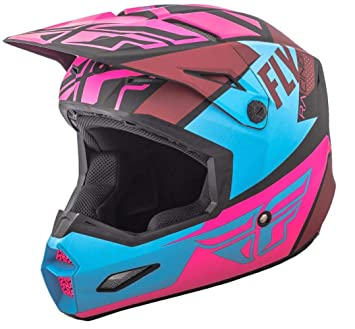 Casco Mx Fly Racing 2018 Elite Guild Rosado-Azul-Negro (S , Rosado