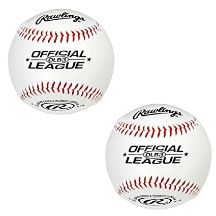 f41746fb Amazon.com: Rawlings OLB3 Official League Recreational Play Baseball (2):  Kitchen & Dining