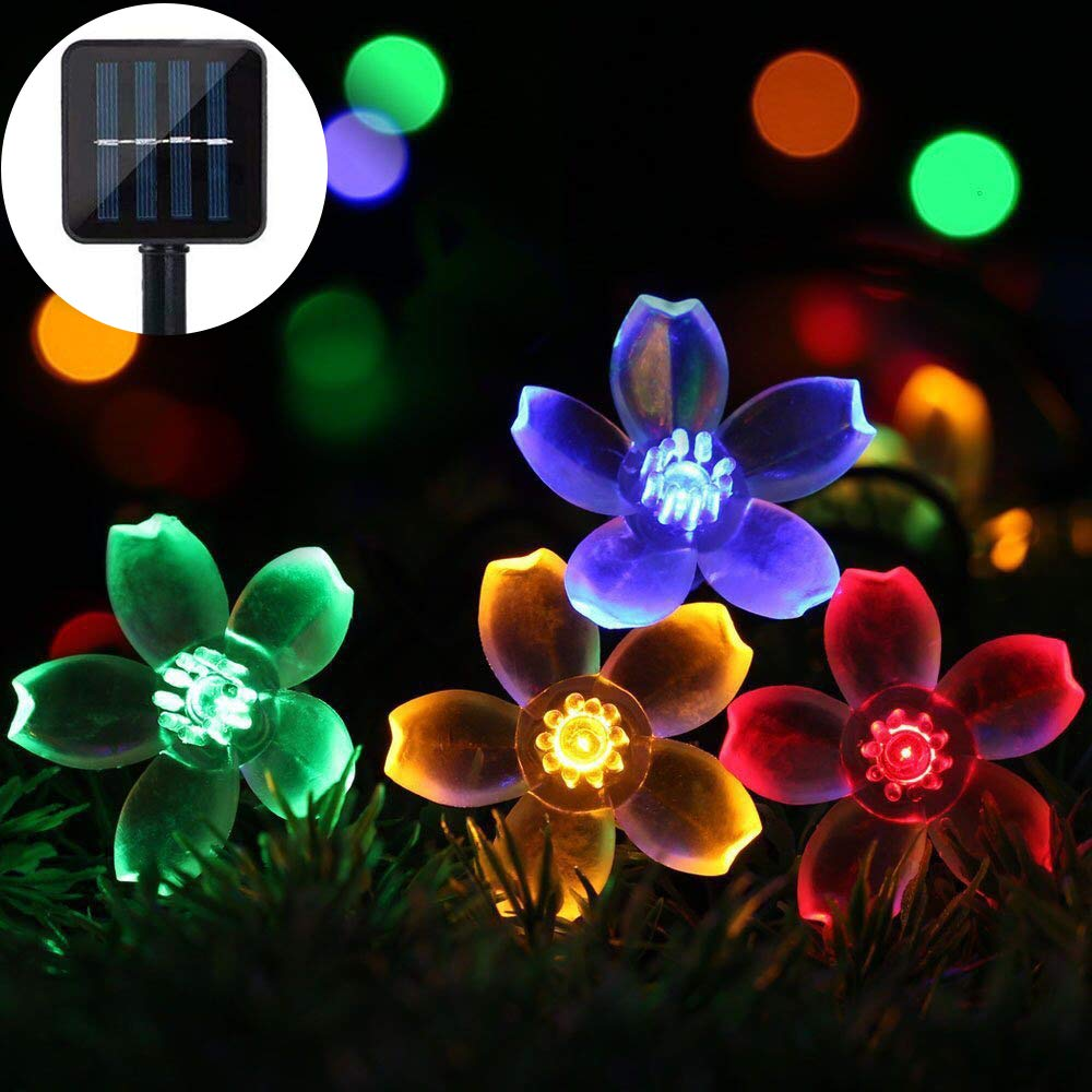 Solar Garden String Lights, Solar Powered Fairy Lights