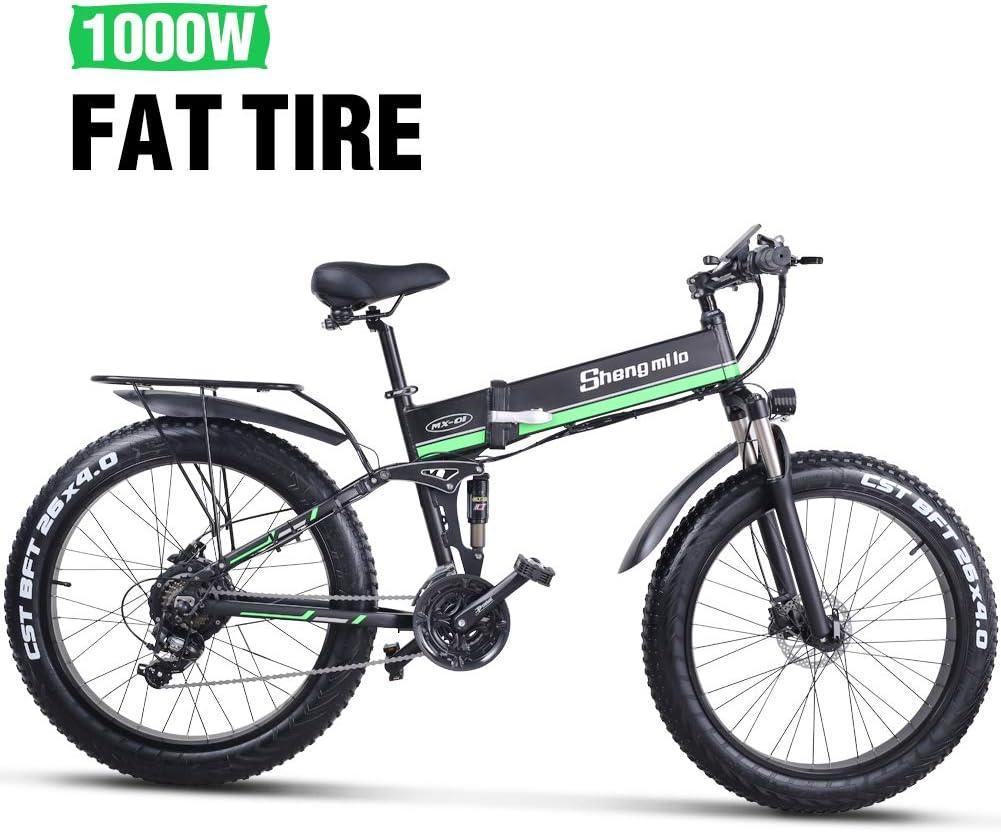 Shengmilo Bicicletas Electricas Plegable Bicicleta e-Bike Montaña ...