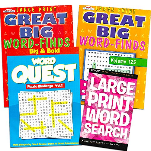 Word Find Puzzle Books for Adults Seniors -- Set of 4 Jumbo Word Search Books with Large Print (Over 380 Pages Total) -